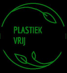 Symbool met de tekst plastiek vrij